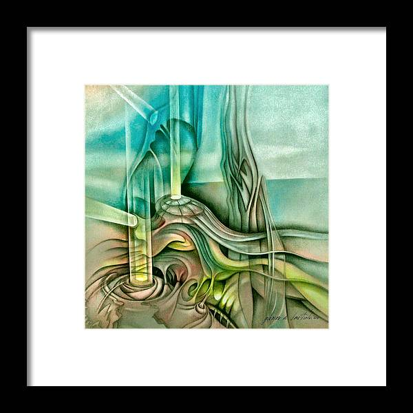Dream Framed Print featuring the painting Dreamscape B 2006 by Glenn Bautista