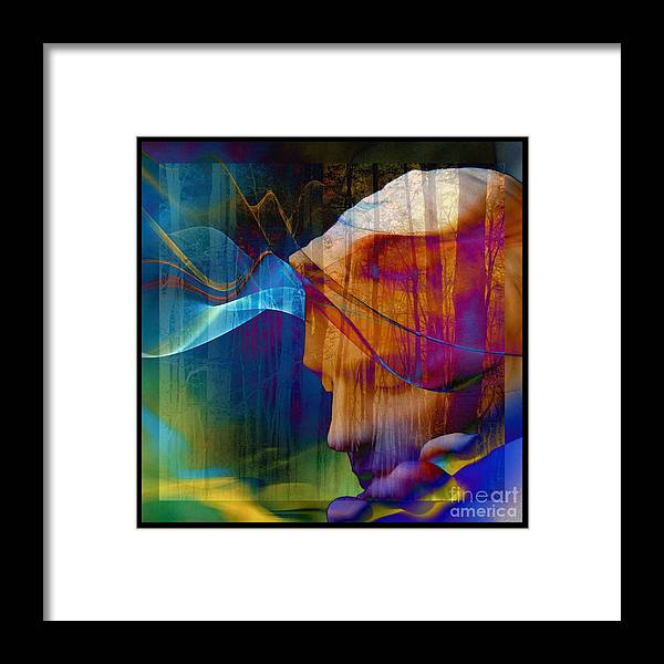 Of Lucid Dreams / Dreamer Framed Print featuring the digital art Of Lucid Dreams / Dreamscape by Elizabeth McTaggart