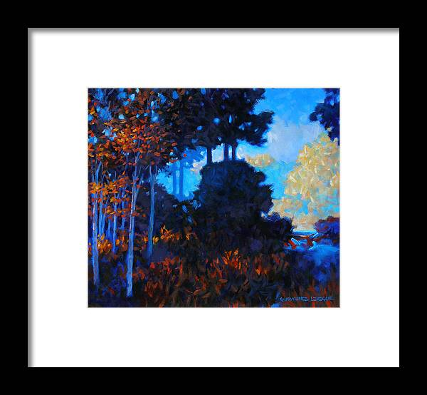 Landscape Framed Print featuring the painting Dreamscape by Kevin Lawrence Leveque