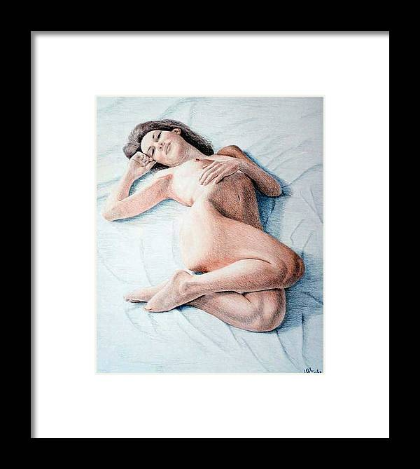 Joe Ogle Framed Print featuring the drawing Dreamy by Joseph Ogle