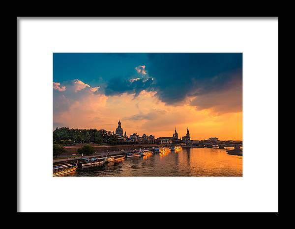 Dresden Framed Print featuring the photograph Dresden 02 by Tom Uhlenberg