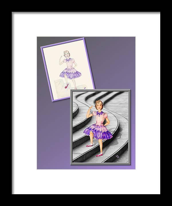 Fashion Framed Print featuring the drawing Dress Design 49 by Judi Quelland