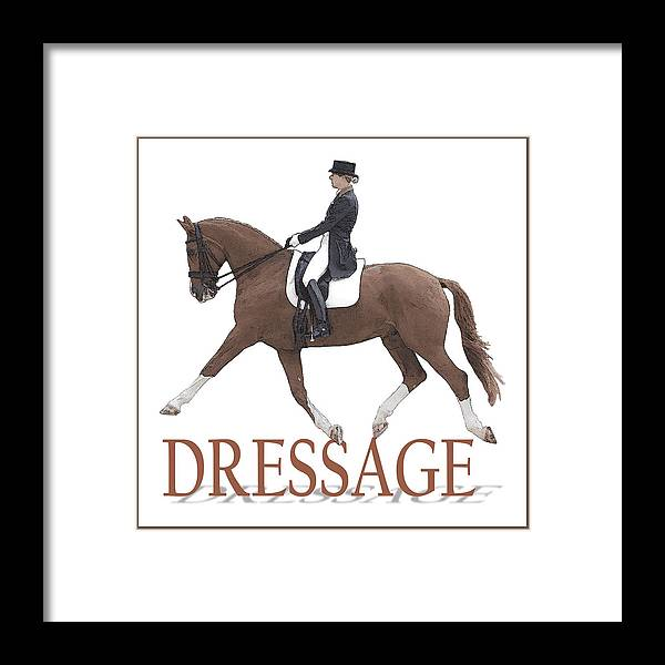 Dressage Framed Print featuring the photograph Dressage by CarolLMiller Photography