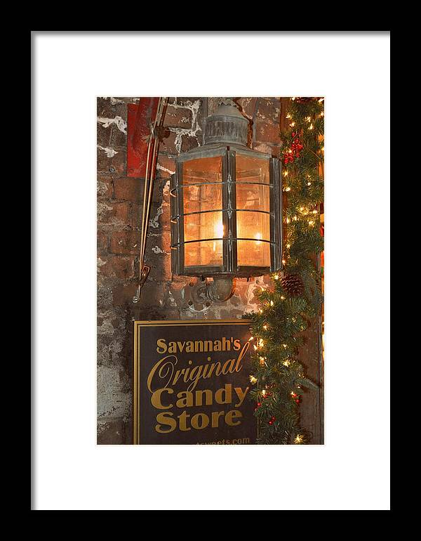 Lantern Framed Print featuring the photograph Dressed Up Lantern by Linda Covino