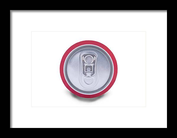 Tail Framed Print featuring the photograph Drink Can Shadow by Oscar Hurtado