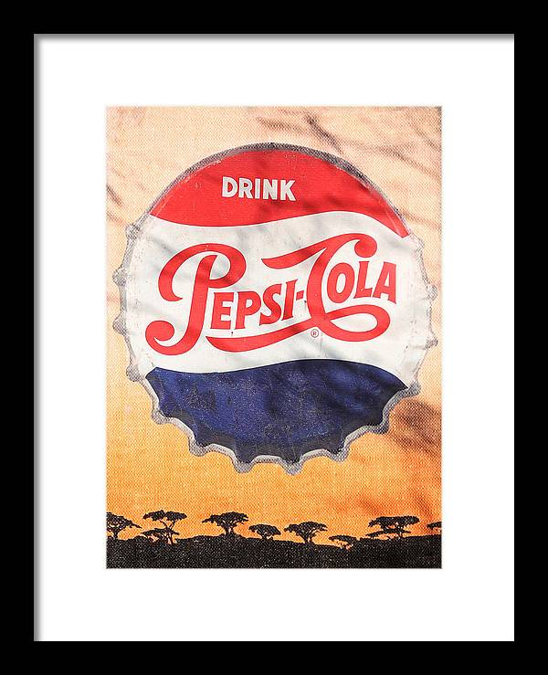 Pepsi Framed Print featuring the photograph Drink Pepsi by Donna Kennedy