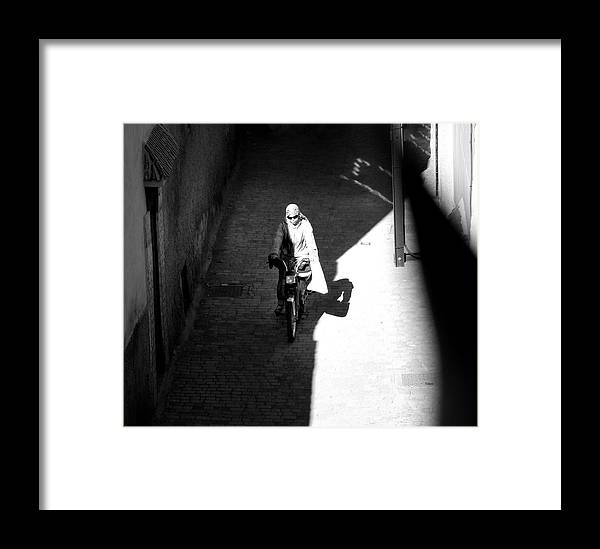 Morocco Framed Print featuring the photograph Driveby Encounter by A Rey