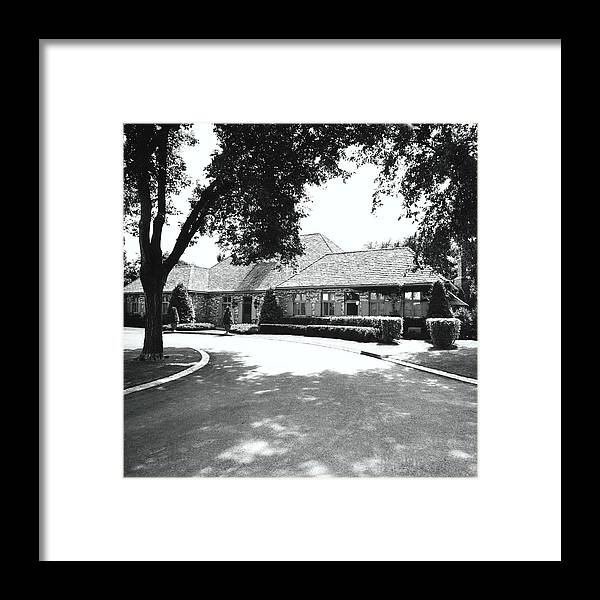 Wayzata Framed Print featuring the photograph Driveway By House by Ralph Bailey