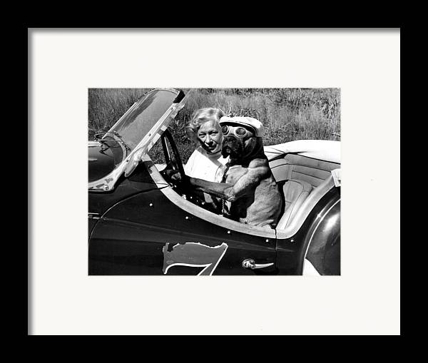 Retro Images Archive Framed Print featuring the photograph Driving Lessons by Retro Images Archive