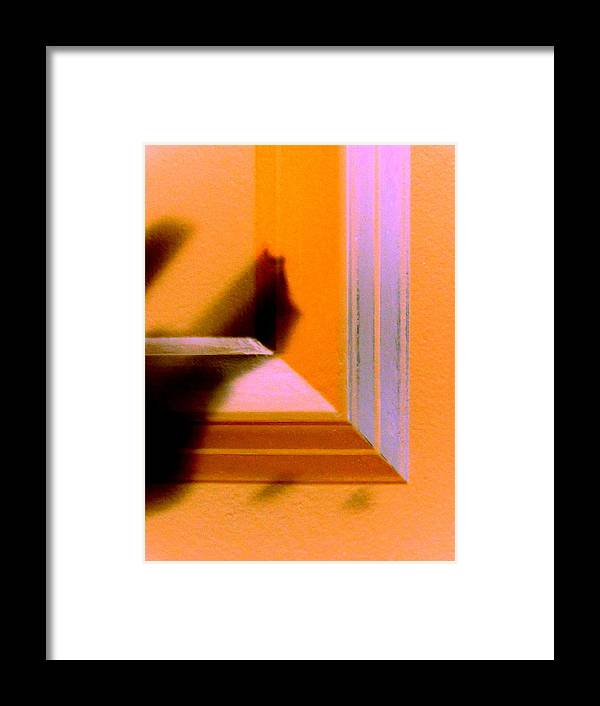 Abstract Framed Print featuring the digital art Dropped Shadow by Randall Weidner