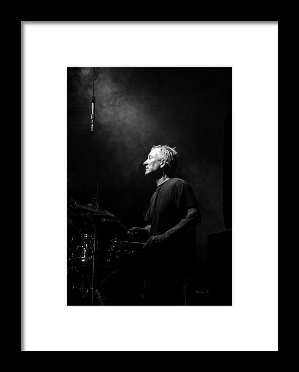 Drummer Framed Print featuring the photograph Drummer Portrait of a Muscian by Bob Orsillo
