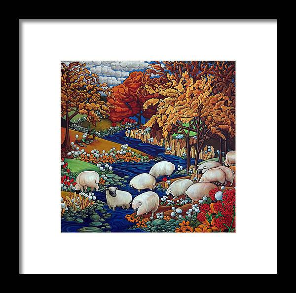 Creek Framed Print featuring the painting Dry Run Creek by Thome Designs