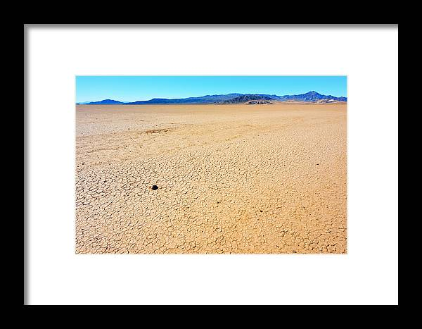 Landscape Framed Print featuring the photograph Dry Soil In Death Valley - Color by Alyaksandr Stzhalkouski