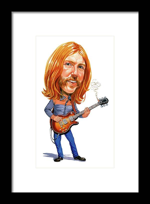 Duane Allman Framed Print featuring the painting Duane Allman by Art