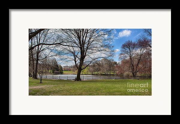 Haverford College Framed Print featuring the photograph Duck Pond Haverford College by Kay Pickens
