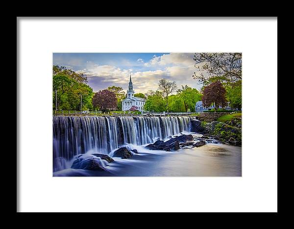 Duck Pond Framed Print featuring the photograph Duck Pond by Lechmoore Simms