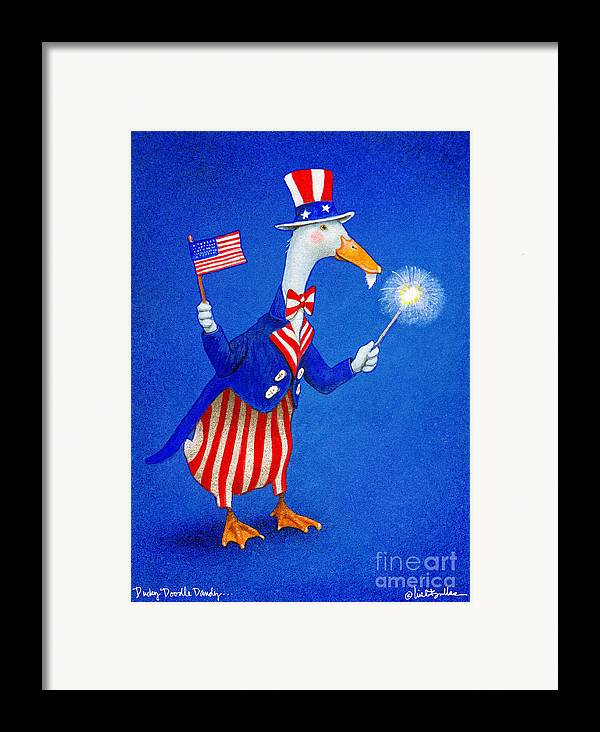 Will Bullas Framed Print featuring the painting Ducky Doodle Dandy... by Will Bullas