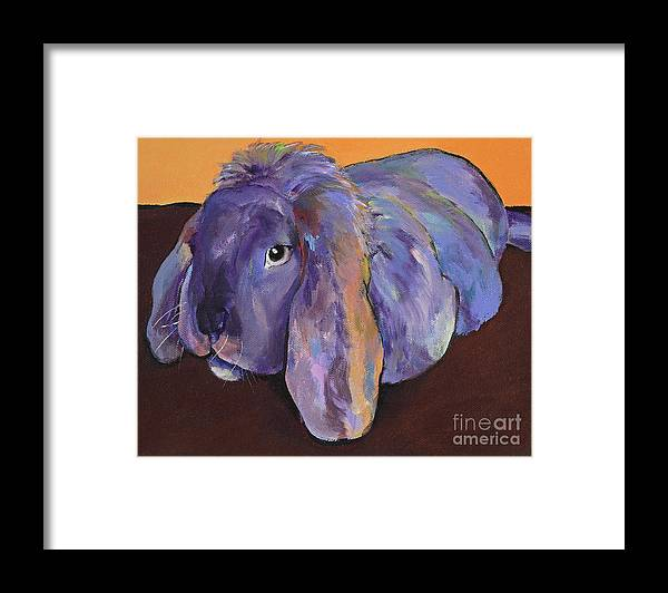 Pat Saunders-white Framed Print featuring the painting Duffy by Pat Saunders-White