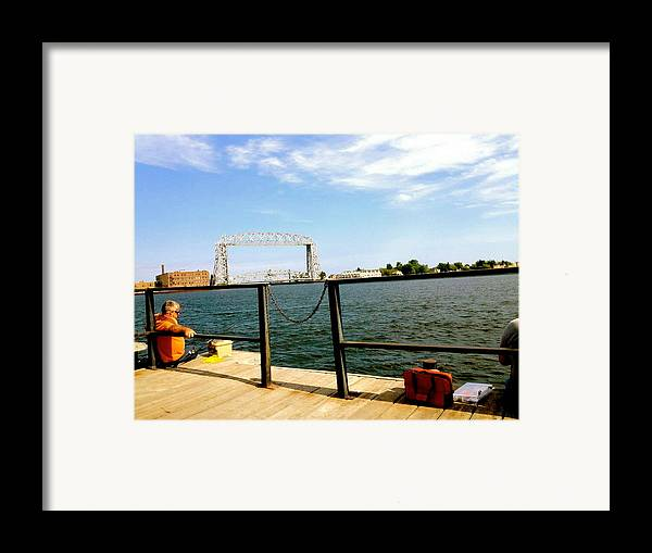 Fishermen Framed Print featuring the photograph Duluth Docks by Danielle Broussard