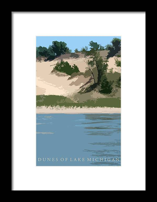 Dunes Framed Print featuring the photograph Dunes Of Lake Michigan by Michelle Calkins