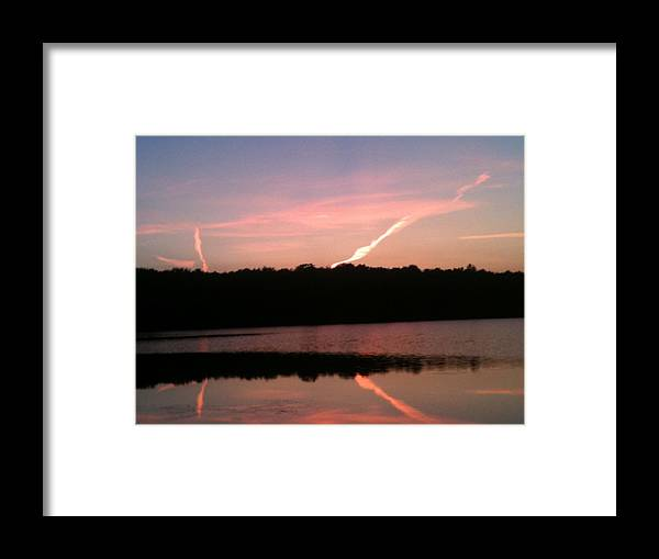 Dusk Framed Print featuring the photograph Dusk in the Poconos by Sheila Mashaw