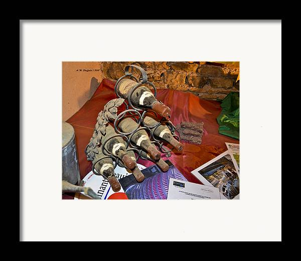 Wine Framed Print featuring the photograph Dust Covered Wine Bottles by Allen Sheffield