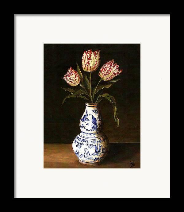 Dutch Still Life Framed Print featuring the painting Dutch Still Life by Teresa Carter