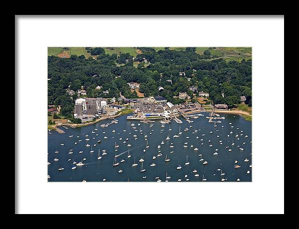 America Framed Print featuring the photograph Duxbury Harbor And Downtown Duxbury by Dave Cleaveland