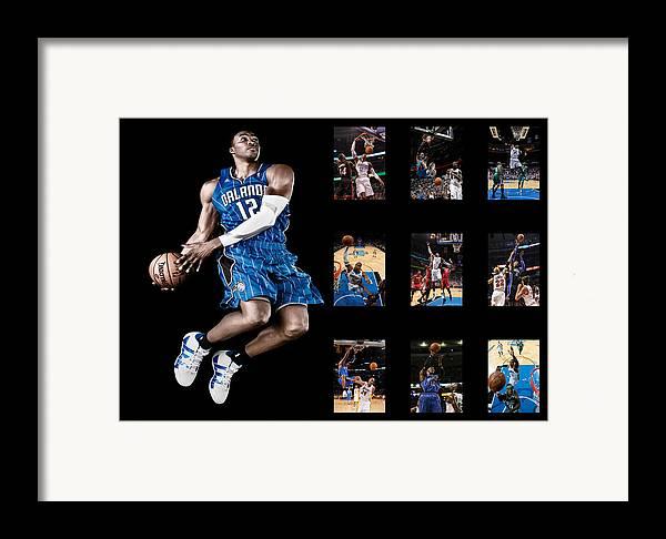 Dwight Howard Framed Print featuring the photograph Dwight Howard by Joe Hamilton