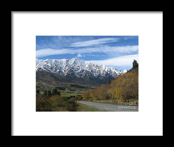 Stunning Photo Framed Print featuring the photograph Dynamic Mountains by Lines