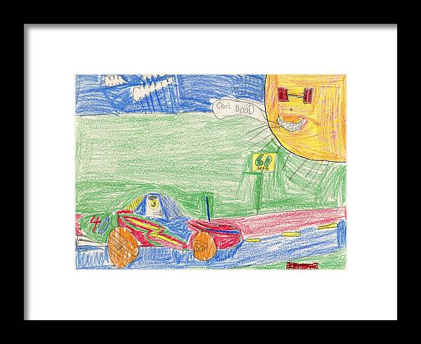E's I'm A Cool Dood Framed Print featuring the drawing E's I'm A Cool Dood by Patsy Stanley