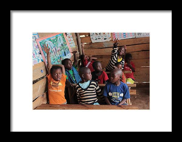 Students Framed Print featuring the photograph Eager Students by Pat Tracey