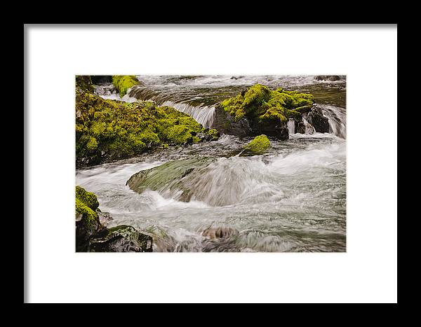 Columbia Gorge Framed Print featuring the photograph Eagle Creek Below Wahclella Falls by Derrel Hewitt