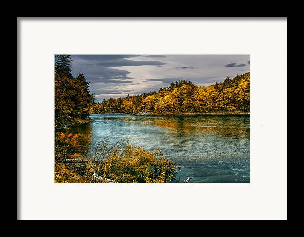Androscoggin River Framed Print featuring the photograph Early Autumn Along The Androscoggin River by Bob Orsillo