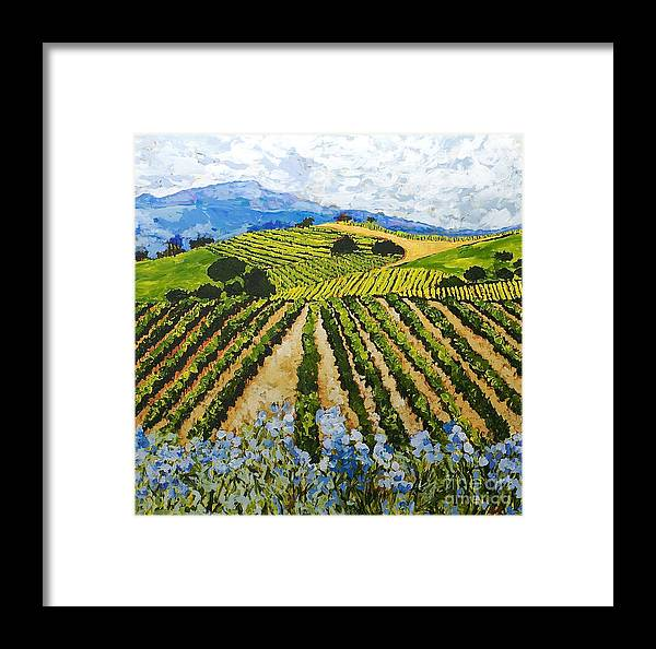 Landscape Framed Print featuring the painting Early Crop by Allan P Friedlander