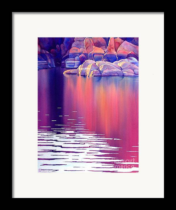 Watercolor Framed Print featuring the painting Early Light by Robert Hooper