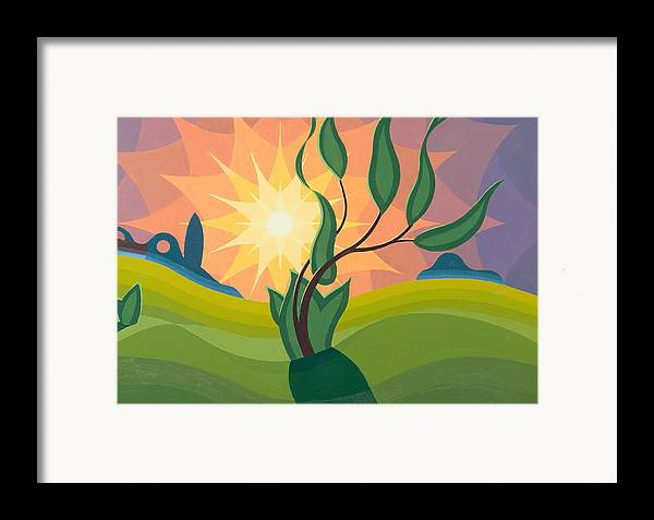 Dawn Framed Print featuring the painting Early Morning by Emil Parrag