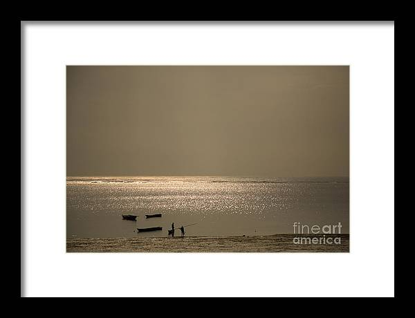 Africa Framed Print featuring the photograph Early Morning Fishermen by Deborah Benbrook