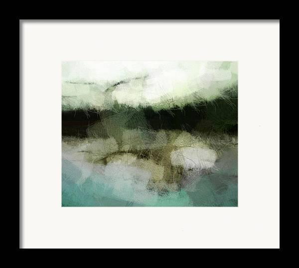 Landscape Framed Print featuring the digital art Early Morning Flight by Gun Legler