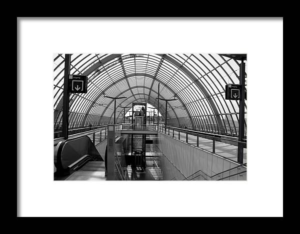 Station Framed Print featuring the photograph Early Morning In Station Sloterdijk In Amsterdam by Jolly Van der Velden