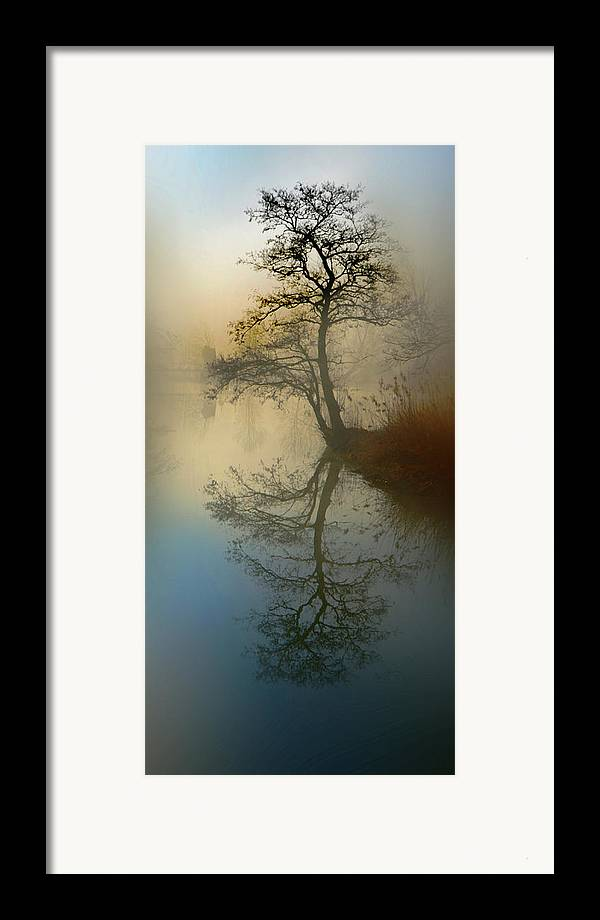 Silence Framed Print featuring the pyrography Early Morning by manhART