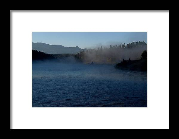 Colorado Framed Print featuring the photograph Early Morning Mist On A Lake by Marilyn Burton