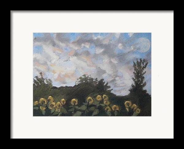 Maine Framed Print featuring the pastel Early September Dawn by Grace Keown