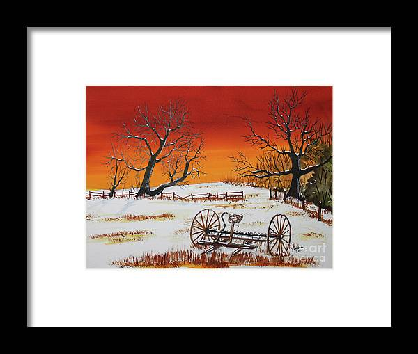 Watercolor Framed Print featuring the painting Early Spring by Jack G Brauer