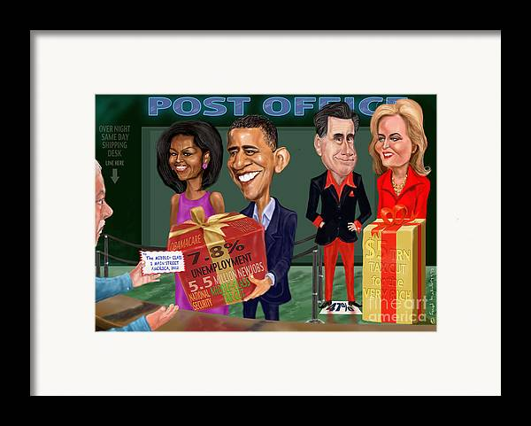 Obama Framed Print featuring the digital art Early X-mas Gift by Fred Makubuya