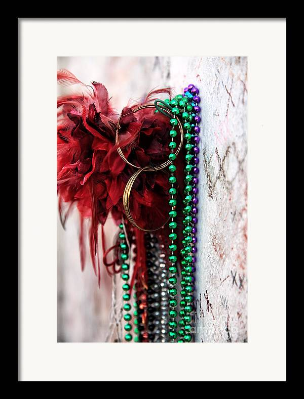 Earrings For Marie Framed Print featuring the photograph Earrings For Marie by John Rizzuto