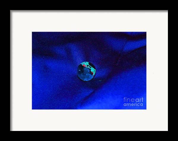 First Star Art Framed Print featuring the digital art Earth Alone by First Star Art