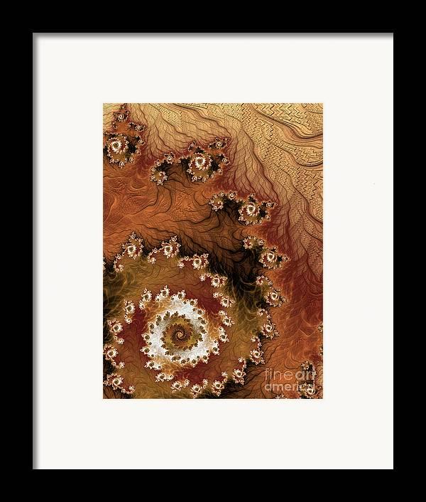 Fractal Framed Print featuring the digital art Earth Rhythms by Heidi Smith