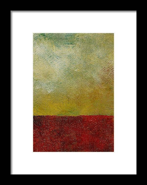 Abstract Landscape Framed Print featuring the painting Earth Study One by Michelle Calkins