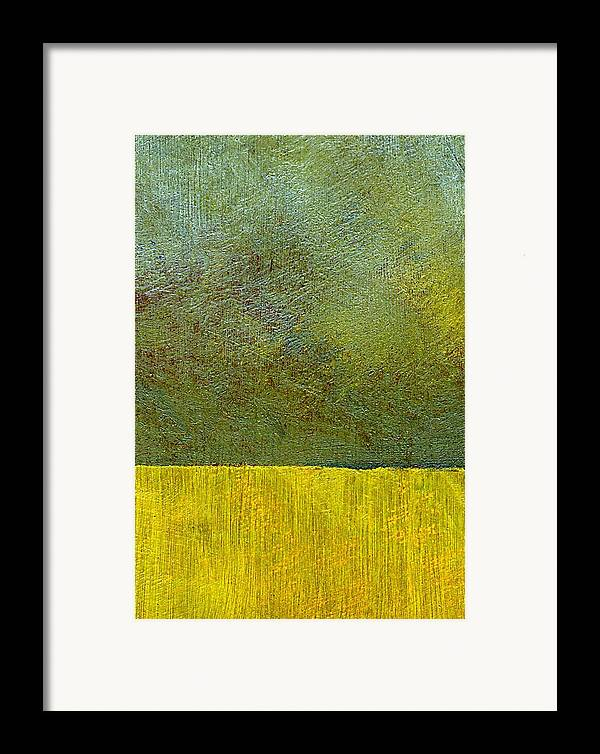 Abstract Landscape Framed Print featuring the painting Earth Study Two by Michelle Calkins